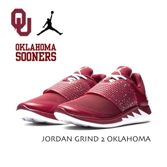 Nike Jordan Grind 2 Oklahoma Men's Red Running Shoe